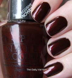 OPI Royal Rajah Ruby. I really want to try dark nail polishes this fall/winter. #nailpolish