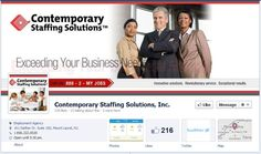 Staffing and Facebook: Contemporary Staffing Solutions has great imagery and branding in their new timeline!