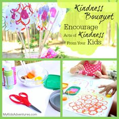 Make an Acts of Kindness Bouquet with your kids, the perfect gift for Mother's Day, a birthday, Teacher Appreciation or anytime someone needs a lift.
