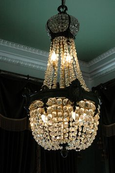 "Crystal Chandelier ""Staple"" in Antebellum Homes  Nottaway Plantation  LA"