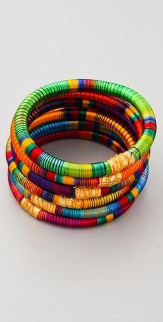 Striped Bangles by Rosena Sammi