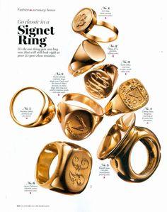 Signet rings.