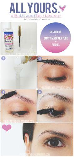 castor oil, eyebrow, makeup, brows, coconut oil