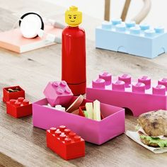 and the person is your water bottle!!  Lego Lunch Time - Red & Pink