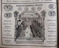 Nantes. Publicité Conserves alimentaires J. B. Jacquier. Beurres et salaisons pour la Marine. 1882.