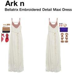 """Bellatrix Embroidered Detail Maxi Dress"""