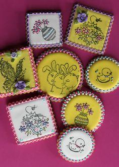 cake, rubber stamping, usher, food coloring, rubberstamp cooki