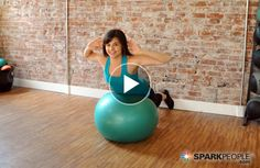 If you've been told that you need to strengthen your lower back, this is the move for you! | @SparkPeople #fitness #exercise #core #workout #ball #video
