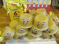 birthday treats, minion, spongebob birthday party, birthdays, fruit cups, classroom treats, preschool snacks, kid, parti