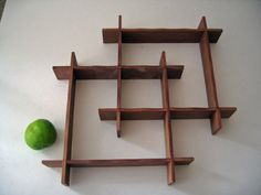 #vintage #1950s shelf // wood shadowbox 50s Mid Century design decor display by ObjectRetro, $49.00
