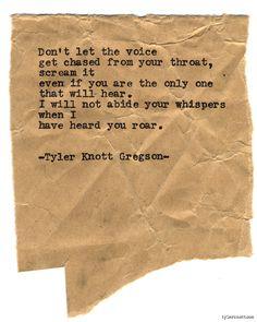 Typewriter Series #765byTyler Knott Gregson