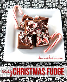 Easy Christmas Fudge dinnerhero.com