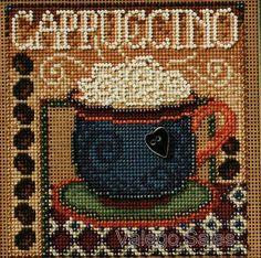 "Buttons Beads Cross Stitch Kit 5"" x 5""  CAPPUCCINO"