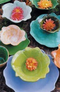 R. Wood Studio pottery. Lovely. Love the differences in the pieces.  Great for entertaining.  =}