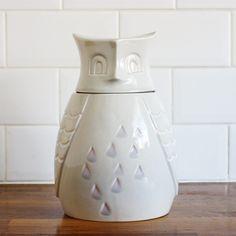 Cermaic Owl Storage Jar / Cookie Jar