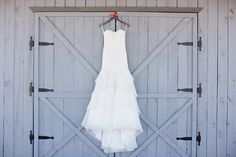 Wedding Gown On Barn