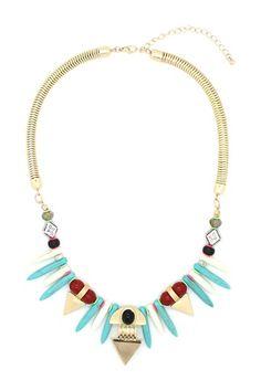 Blue Aztec Necklace