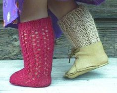 [two versions of knee-high socks, in two yarn weights].**