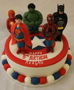 Comicbook Superhero birthday cake!! :-)