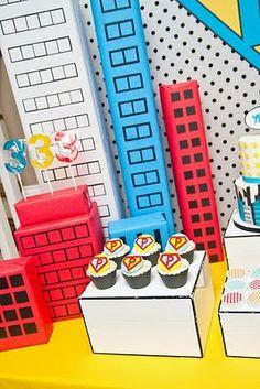 Vintage Pop Art Super Hero Party by Anders Ruff - Anders Ruff Custom Designs, LLC
