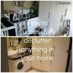 how to declutter any room http://www.organisemyhouse.com/how-to-successfully-declutter-anything-in-your-home/