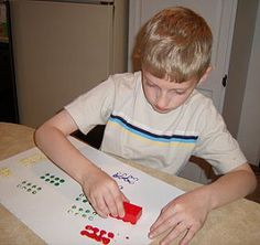childcareland.com - Early Learning Activities For Pre-K and Kindergarten:  painting with legos