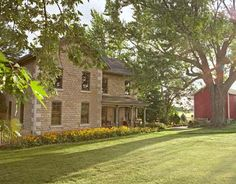 This 1883 house displays unusually refined masonry for a Wisconsin farm, with large, elegant cornerstones.