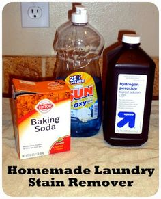 Homemade laundry stain remover | Be It Ever So Humble