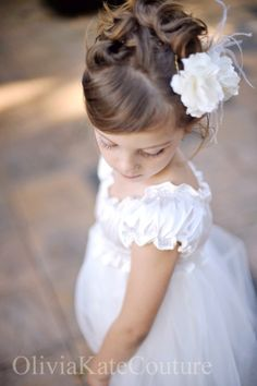 Flower Girl hair with the braid