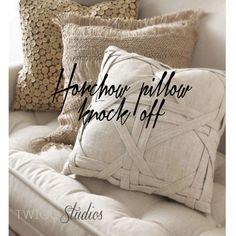 ..Twigg studios: horchow windowpane pillow knock off