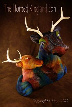 The Horned King and Son by ursasuzanne on Etsy, $5500.00