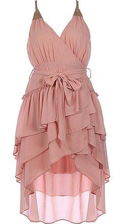 Sweet Patisserie Dress | Pink Ruffled Wrap Dresses | Rickety Rack