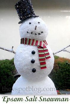 Epsom Salt Snowman