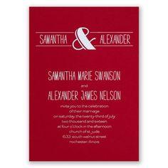 modern flair - red | foil wedding invitations | custom wedding invites at Invitations By Dawn