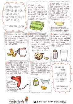 Home remedies for relieving common cold symptoms!