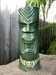 Green  Tiki Mug