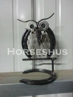 Owl Horseshoe Sculpture made by Horseshus https://www.facebook.com/horseshus horseshoe art
