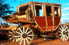 Leaving carrying only what they could, heavier items such as this old stagecoach were left to rot in Steins by its former inhabitants    Read more: http://www.dailymail.co.uk/news/article-2182753/Stagecoaches-outhouses-general-stores-Inside-preserved-American-ghost-town-left-untouched-70-years.html#ixzz22QljPJoN