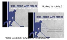 Hockey Birthday Party Theme #birthday #party #invitation #template #printable #hockey #sports $2.00