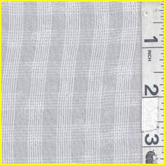 """Semi Sheer Cream  Plaid Voile Fabric  Suitable for Blouses, Dresses & Overlays  90% Cotton  10% Silk  55"""" wide  Hand Wash Cold or Dry Clean  Usually $10.00/yd  $4.95 per yard"""