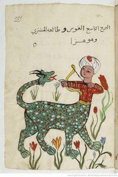 Manuscript-Astrology Manuscript (Sagittarius), Gallica, BnF