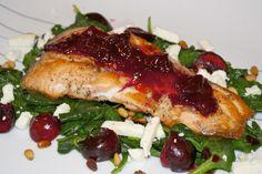 Salmon Glazed w/ Cherries Recipe