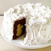 BHG's Newest Recipes:Hidden Snowman Cake Recipe