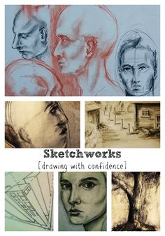 "New Online Art Class, ""Sketchworks,"" at Jeanne Oliver's Ning Site http://jeanneoliver.ning.com/ #drawing #art #sketching #diyart #learnart #learntodraw #drawingfaces #perspectivedrawing"