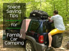 8 Space Saving Tips for Family Car Camping {from Mommy Loves Trees}
