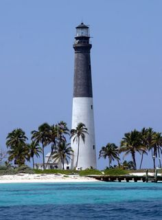 Dry Tortugas Light house, Loggerhead Key, three miles west of  Fort Jefferson Florida.