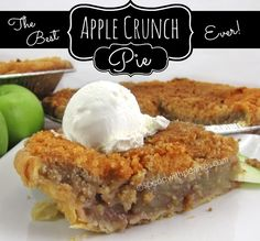The Best Apple Crunch Pie Ever!