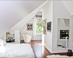 Attic bedroom conversion- I love attic rooms!