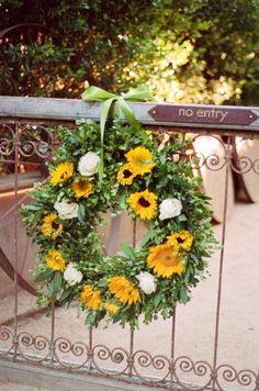 Beautiful summer wreath.