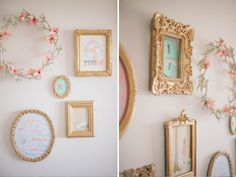 Gold accents (Ellia's Nursery ©Natalie Spencer Photography)